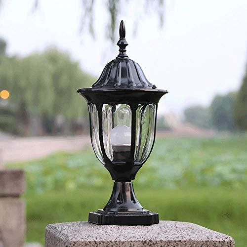 Suave, no deslumbrante Column headlight Americanas de aluminio Faros columna impermeable fundido a presión antiguos, cerca del jardín Pon las luces al aire libre, luces de puerta, Camino de jardín Luz