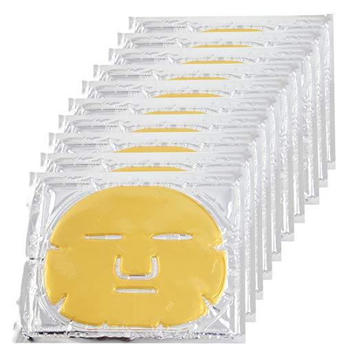 EZGO 10 Pieces 24K Gold Bio-Collagen Renewal Facial Mask, Collagen &...