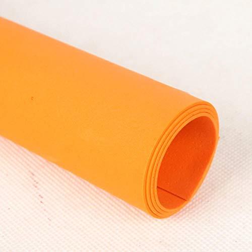 Miner 10 stks veel schuim plakboek inpakpapier handgemaakte foam vellen spons papier diy handwerk materialen multicolour, oranje