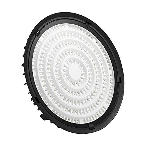 Yinet-EU 300W UFO LED Iluminación 30000LM LED Lámpara de Alta Bahía Blanco Frío 6500K LED Bahía Luces Impermeable IP65 Ultra Delgada Lámpara Industrial de Techo para Fábricas, Almacén,Garaje,Sótano