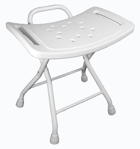 Badehocker, Duschhocker aus Aluminium, mit rutschfesten Füßen , zusammenklappbar