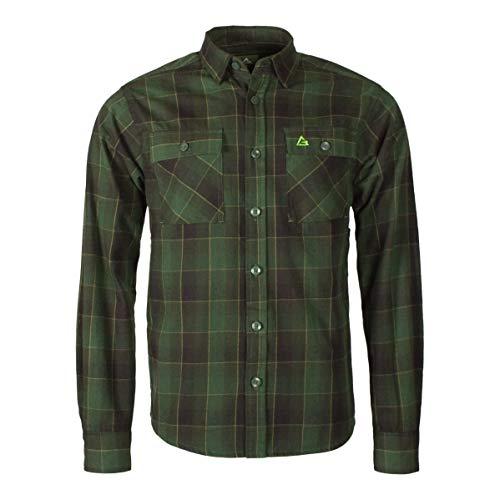 Garphyttan Fixar Carpenter Shirt Hemd Herren Langlebiges Baumwoll Flannel-Hemd für Outdoor Wandern Trekking Camping - M, Grün