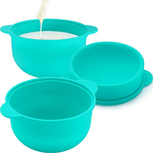 3 Pieces Replacement Wax Pot, Wax Warmer Replacement Pot Removable Silicone Pot Hair Removal Waxing Bowl for Home Use Wax Machine Accessory, 500 cc,14 oz