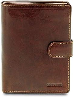 GIUDI ® - Porta passaporto in pelle vacchetta, custodia passaporto, vera pelle, portamonete, portafoglio, portacarte, Unis...