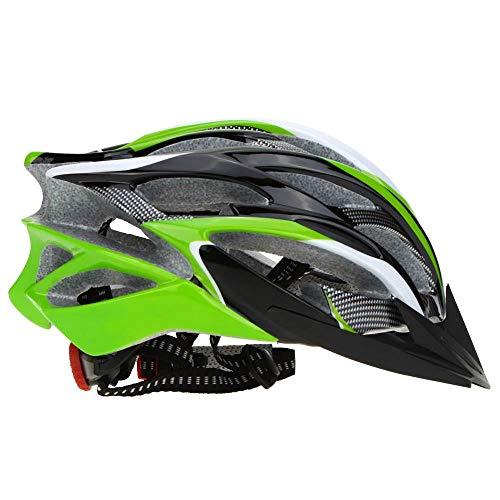 SFBBBO Casque Velo Adulte 25 évents Respirant ultraléger Sports de Plein air VTT vélo de Route vélo réglable Casque de Patinage Vert