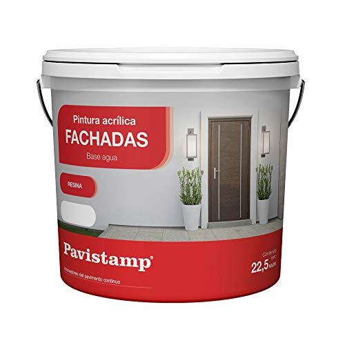 Pintura Interior Exterior blanca 22,5KG Acrilica Plastica/Antihumedad/Antimoho/Fachadas, paredes, suelos y madera alta gama en colores para pared rodillo, brocha y pistola