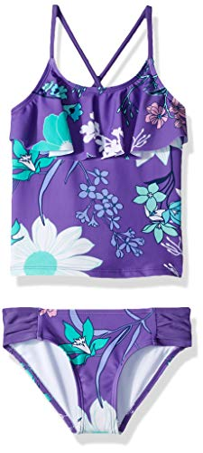 Kanu Surf Girls#039 Little Charlotte Flounce Tankini Beach Sport 2Piece Swimsuit Paige Purple Floral 5