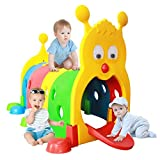 Climb-N-Crawl Caterpillar Tunnel, Indoor/Outdoor Climbing Kids Play Structure, Children's Play Crawl Tunnel Toy, Expandable with Other Sets, Certified and Safe (US Spot,Multicolour)