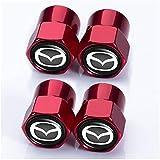 4 Piezas Coche Tapas para Válvulas, para Mazda 3 Axela 6 ATENZA MX-5 CX-3 CX-4 CX-5, Neumático Automóvil Tapones Válvula Tapones Neumatico