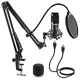 Microfono a Condensatore, LIFEBEE Microfono Cardioid per Computer...