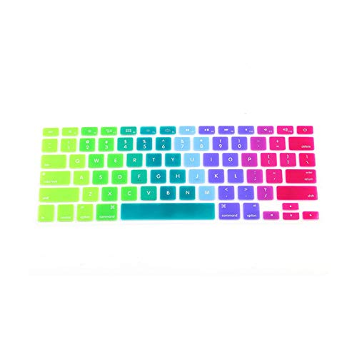 New 1pc Candy Colors Rainbow Silicone Keyboard Case Cover Skin Protector for iMac Macbook Pro 13' 15' Cover Protector-Style 1 (Multicolor)