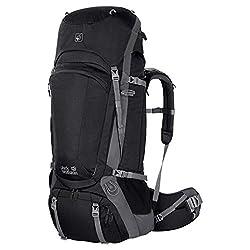 Jack Wolfskin Men's Trekking Backpack Denali 65, black, 79 x 40 x 19 cm, 65 Liter, 2003071-6000