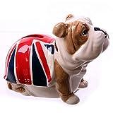 Puckator LON21 Spardose Bulldogge mit britischer Flagge, Keramik, Rot/Blau/Weiß/Braun, Einheitsgröße