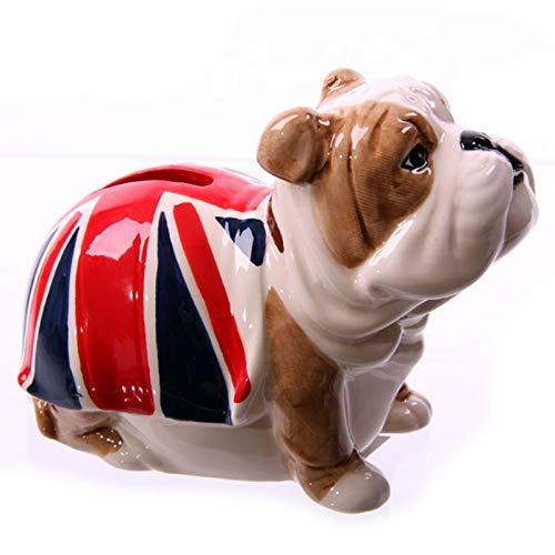 Puckator LON21 Spardose Bulldogge mit britischer Flagge, Rot/Blau/Weiß/Braun