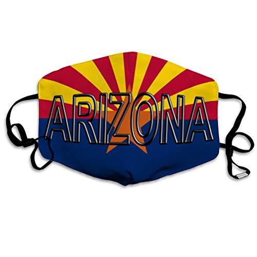 Walnut Cake Sicherheitsschild Wiederverwendbare Außenabdeckungen Flagge Arizona Wort Staat Amerika Staat geschrieben Mundabdeckungen