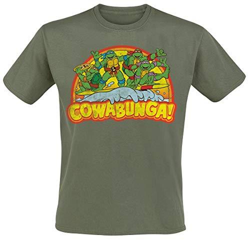 Officially Licensed Merchandise TMNT - Cowabunga T-Shirt (Yellow)