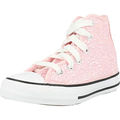 Converse Chuck Taylor All Star Hi Daisy Crochet Rosa/Weiß (Arctic Pink/White) Polyester 37 EU
