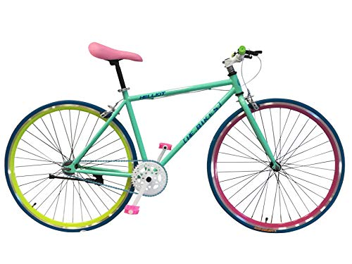 Helliot Bikes Soho 14 - Bicicleta Fixie Urbana, Unisex Adulto, Verde, M-L
