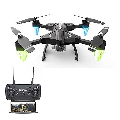 JINFENFG Drone Pieghevole ad Altezza Fissa Long Endurance WiFi Giocattolo in Tempo Reale Aereo telecomandato Telecamera Aerea HD Elicottero RC Modello di Aviazione di Ricarica