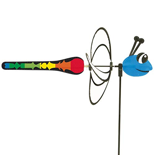 CIM Windspiel - Little Magic Dragonfly - UV-beständig und wetterfest - Windrad: Ø28cm, Motiv: 35x13cm, Gesamthöhe: 85cm - inkl. Fiberglasstab (Dragonfly)