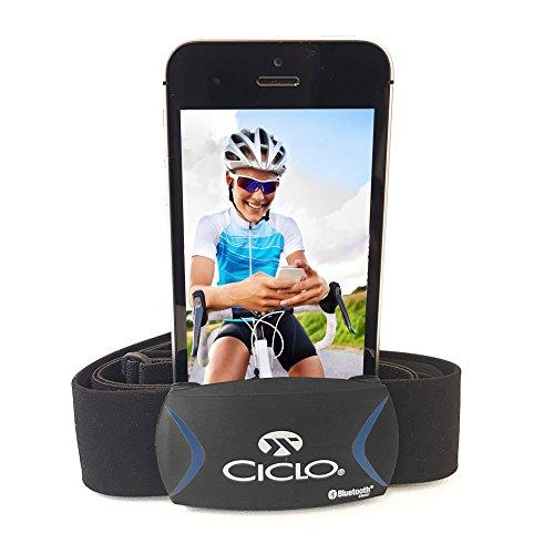 BLUETOOTH Herzfrequenz Brustgurt für Garmin, iPhone und Android/ zur Messung der Herzfrequenz am Smartphone mit Strava, Endomondo, RUNTASTIC Pro uvm.