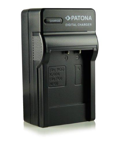 Patona - Cargador con 3 clavijas, compatible con Fuji NP-50/Kodak Klic-7004/Pentax D-Li68/D-Li122...