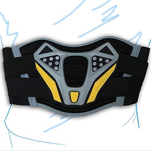 Motorrad Nierengurt Nierenschutz mit breitem Klettverschluss Moto-Cross Taille Reiten Gürtel,Schwarz,XL