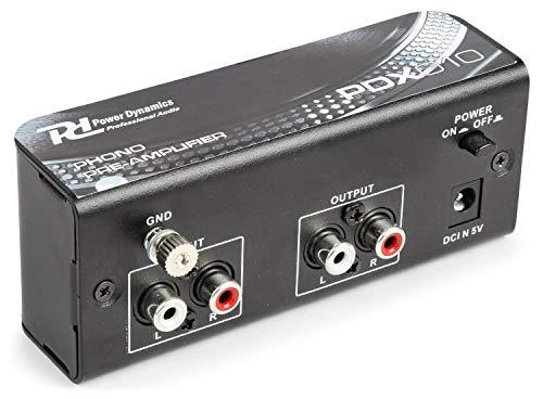 El PDX010 es un preamplificador de Phono para poder conectar giradiscos a una entrada linea de amplificador