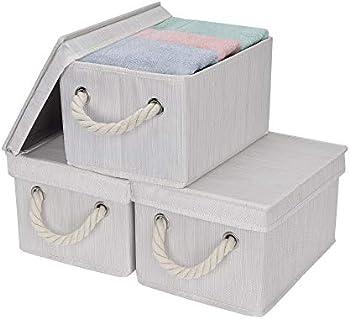 3-Pack StorageWorks Storage Boxes With Lids (Medium)