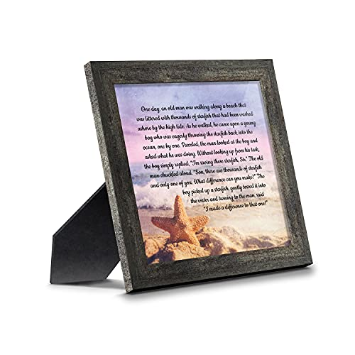 The Starfish Story Teacher Gift, The Legend of The Starfish Wall Decor, Thank You Gifts or Encouragement Gifts, Thinking of You Gifts, Add to Your Thank You Gift Basket, Framed Home Décor 8688BW