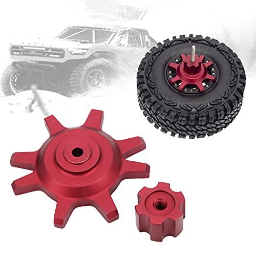 Gaeirt Cambiador de neumáticos de Coche RC, Accesorios Ligeros para Coche RC Material de aleación de Aluminio para Cambiador de Bloqueo de Cubo para Accesorios de Coche RC(Red)