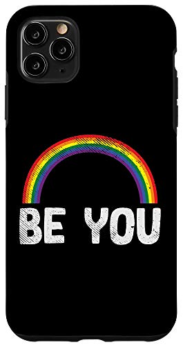 iPhone 11 Pro Max Rainbow You Be LGBT Pride Flag Lesbian Gay Bi Trans Gift Case