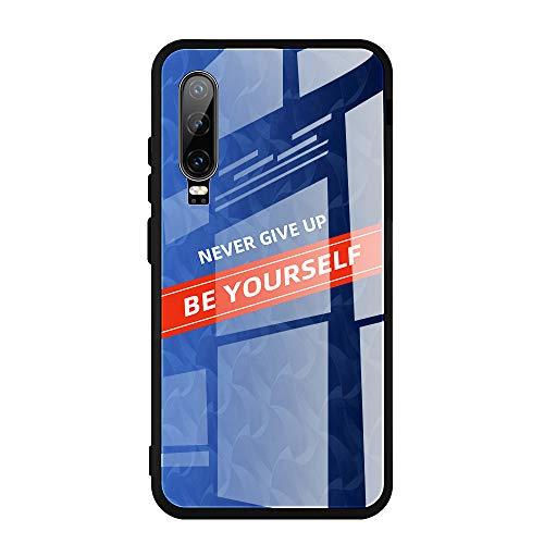 Funda compatible con Huawei P20 Proï P20 Lite/Nova 3e Teléfono Móvil ultra delgado, una parte trasera de vidrio templado 9H una silicona suave marco protector de TPU multicolor 02 P20 Lite/Nova 3e