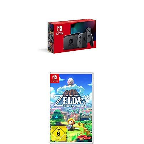 Nintendo Switch Konsole - Grau + The Legend of Zelda: Link's Awakening [Nintendo Switch]