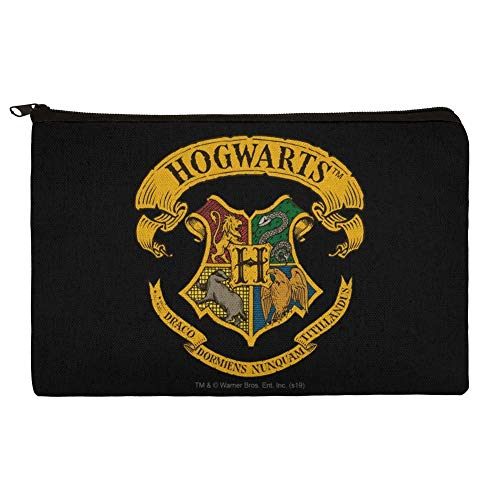 Harry Potter Ilustrated Hogwart's Crest Pencil Pen Organizer Zipper Pouch Case