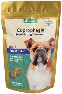 NaturVet Dog Puppy For-bid Stop Eating Poop Coprophagia Deterrent Sft Chews 90ct