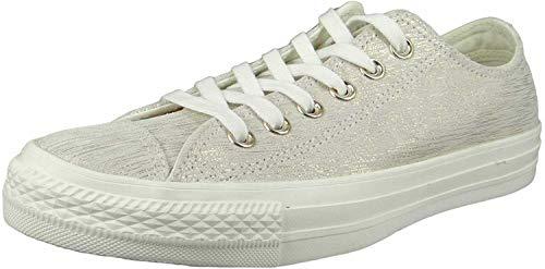 Converse Damen Chuck Taylor CTAS Ox Sneakers, Mehrfarbig (Egret/Metallic Egret/Egret 281), 36.5 EU