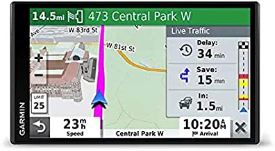 """Garmin DriveSmart 65 with Amazon Alexa, Built-In Voice-Controlled GPS Navigator with 6.95"""" High-Res Display"""