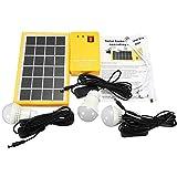 Kit De Iluminación De Energía Solar con Blanco LED Bombilla Y 4 En 1 Cable De Carga USB Portátil Hogar Iluminación Exterior DC Paneles Solares