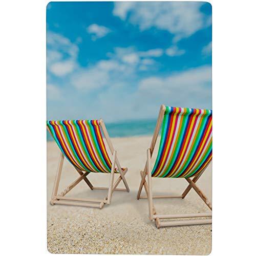 Fenda Beach Chair On White Beach Best Shower Mat with Strong Suction Cups 28x16 Inch(73cmx42cm) Bathroom Mats and Rugs Sets Shower Anti Slip Mat Bath Mat for Shower
