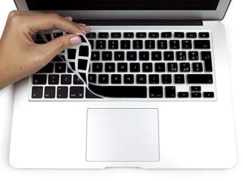"""MyGadget Protezione Tastiera QWERTY [Italiano] MacBook Air 13"""" PRO/Retina 13"""" & 15"""" (Fino al 2016) - Copertura Skin Silicone – Nero"""