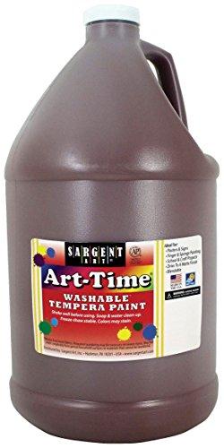Sargent Art 17-3688 128 oz Brown Art-Time Washable Tempera Paint,1 Gallon