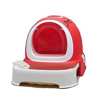 Rory Dissociables De Toilette pour Chat, Plus Grand Espace Litière Tiroir Type Plateau Boîte avec Pelle, Facile À Assembler 52 * 42 * 40Cm,I