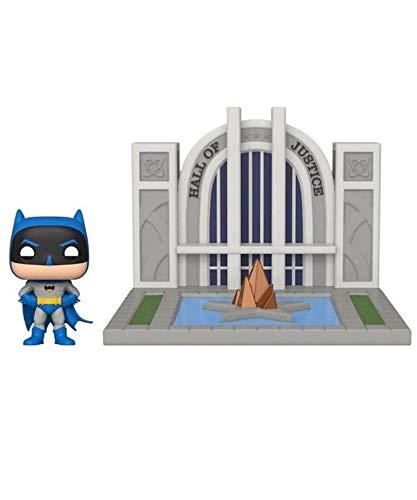 Popsplanet Funko Pop! Town – Super Heroes – Batman with The Hall of Justice #09 Vinyl Figure 10 cm Released 2019