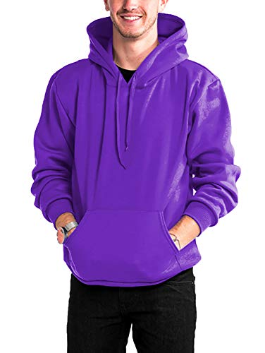 WESTSUMMIT Premium Made in USA Active Lifestyle Pullover Zipup Hoodie Sweatshirts Warm and Comfortable (Purple Hoodie, Small)