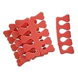 Gleader Kit Separador para Dedos Manicura Pedicura Arte Unas 7 Colores
