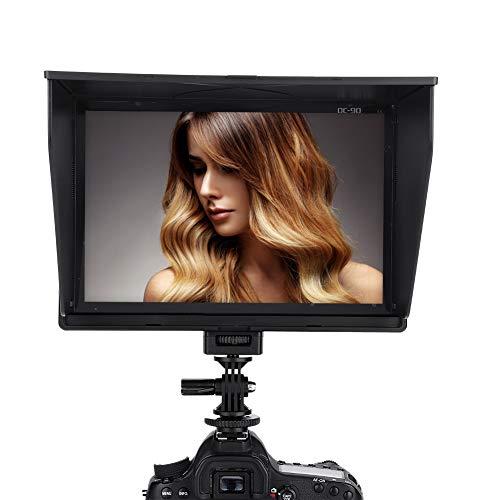 VbestLIFE 8,9-inch camerafelmonitor, LCD-HD-videomonitor met 4K HDMI-ingang 1920 x 1200,16: 9 of 4: 3 instelbare display-cameramonitor voor DSLR-camera's. Nuttig gereedschap voor fotografie.