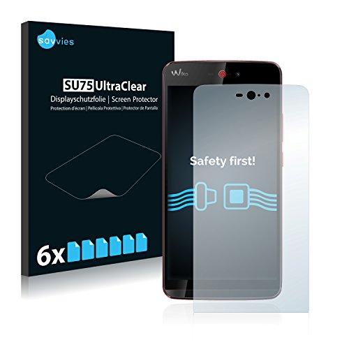 Savvies 6X Schutzfolie kompatibel mit Wiko Rainbow Jam 4G Bildschirmschutz-Folie Ultra-transparent