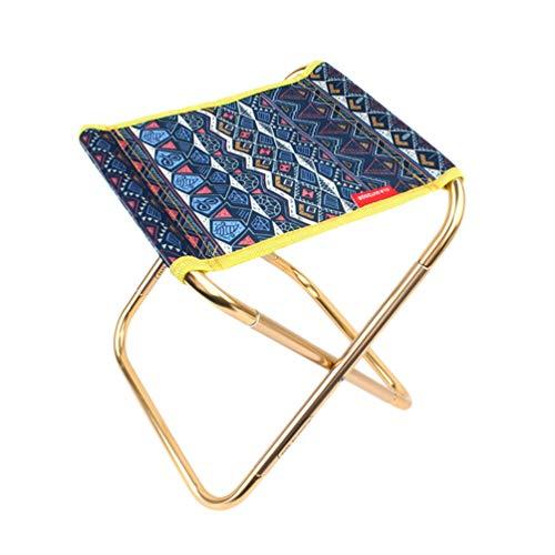 LIOOBO Klappstuhl für den Außenbereich, klein, Metall, zusammenklappbar, Oxford-Stoff, Faltbarer Hocker für Camping, Outdoor, Reisen