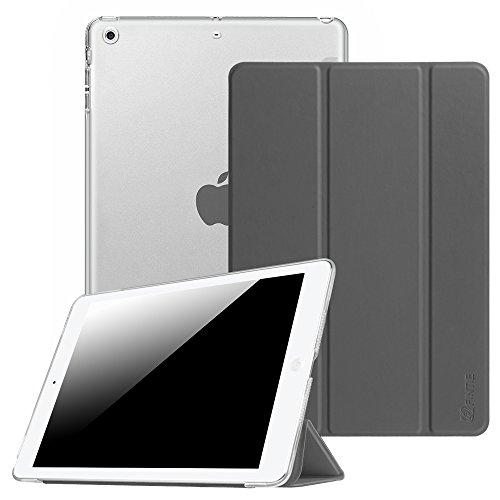 Fintie Hülle für iPad Air 2 (2014 Modell) / iPad Air (2013 Modell) - Ultradünne Superleicht Schutzhülle mit Transparenter Rückseite Abdeckung mit Auto Schlaf/Wach Funktion, Himmelgrau